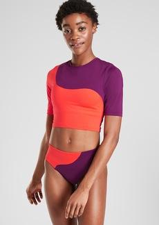 Athleta Asym Colorblock Rashguard