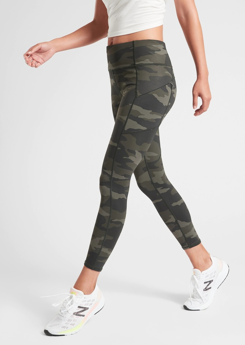 Athleta Camo Contender 7/8 Tight in Powerlift