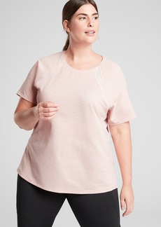 Athleta Chi Dot Mesh Train Tee