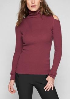 Athleta Cotton Cashmere Cold Shoulder Sweater