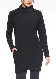 Athleta Cozy Karma Asym Sweatshirt Dress