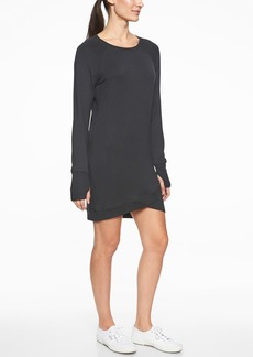 Athleta Criss Cross Sweatshirt Dress