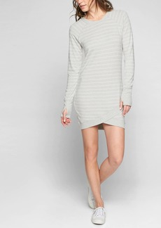 Athleta Criss Cross Stripe Dress