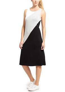 Diagonal Color Block Tank Dress