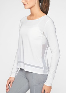 Athleta Essence Mesh Trim Top