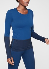 Athleta Flurry Colorblock Base Layer Top