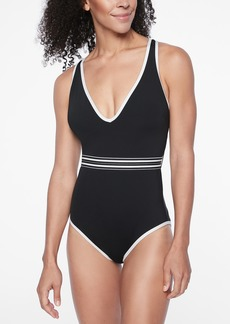 Athleta Gold Coast Solid One Piece Swimsuit