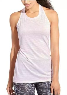 Athleta High Neck Shadow Stripe Chi Tank