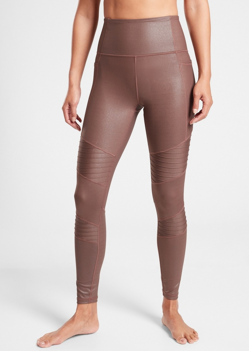 Athleta Inclination Moto Shimmer Tight in Powervita