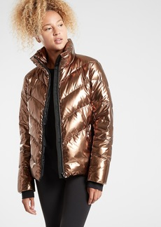 Athleta Lofty Metallic Down Jacket