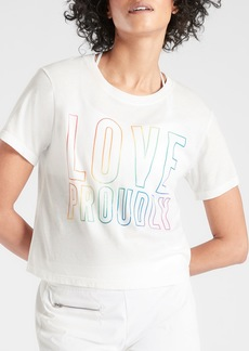 Athleta Love Proudly Graphic Crop Tee