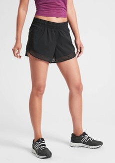 Athleta Mesh Racer Run Short 4&#34