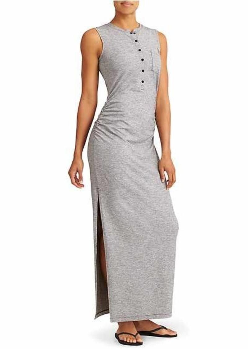 d8b9aa4143 Athleta Microstripe Henley Maxi Dress
