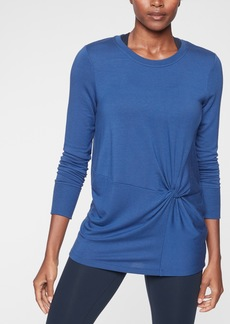 Athleta Nirvana Twist Front Sweatshirt