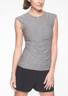 Athleta Pacifica Wrap Front Heather Tank