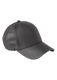 Athleta Perforated Faux Leather Baseball Cap