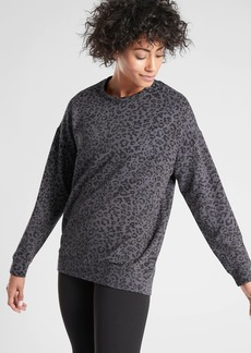Athleta Pure Luxe Leopard Print Sweatshirt