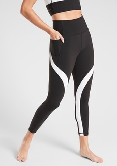 Athleta Salutation Stash Pocket II Colorblock 7/8 Tight