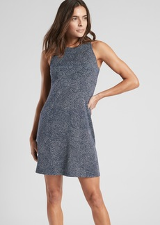 Athleta Santorini Printed High Neck Dress