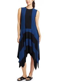 Stripe Fluid Dress