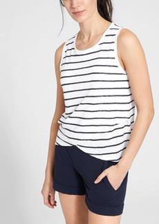 Athleta Stripe Linen Criss Cross Tank