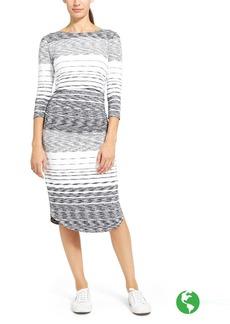 Athleta Stripe Scoop Midi Dress