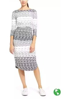 Stripe Scoop Midi Dress