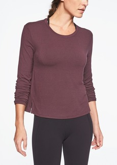 Athleta Threadlight Relaxed Side Slit Long Sleeve