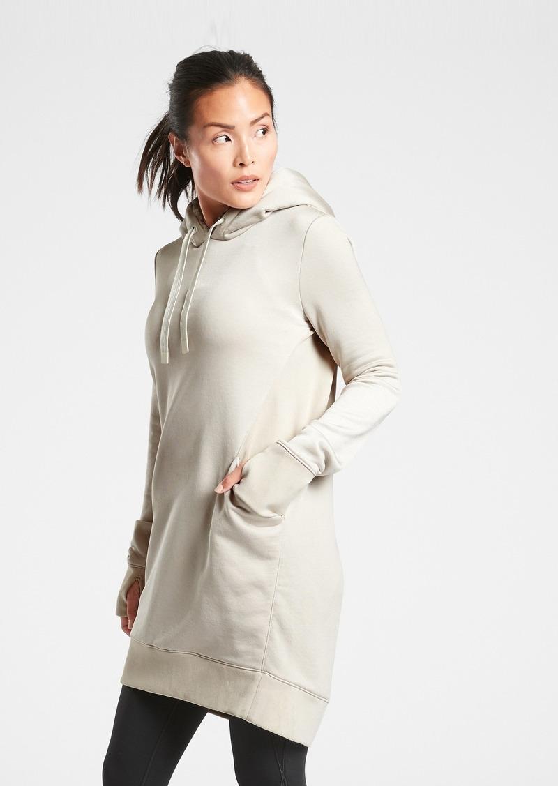 Athleta Triumph Luxe Shine Hoodie Dress