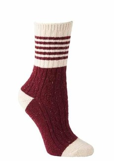 Athleta Varsity Cable Stripe Crew Socks by Hansel from Basel, Inc.®