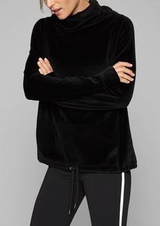 Athleta Velour Turtleneck Sweatshirt