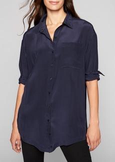 Athleta Washable Silk Button Down Tunic