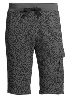 ATM Anthony Thomas Melillo Animal-Print Sweat Shorts