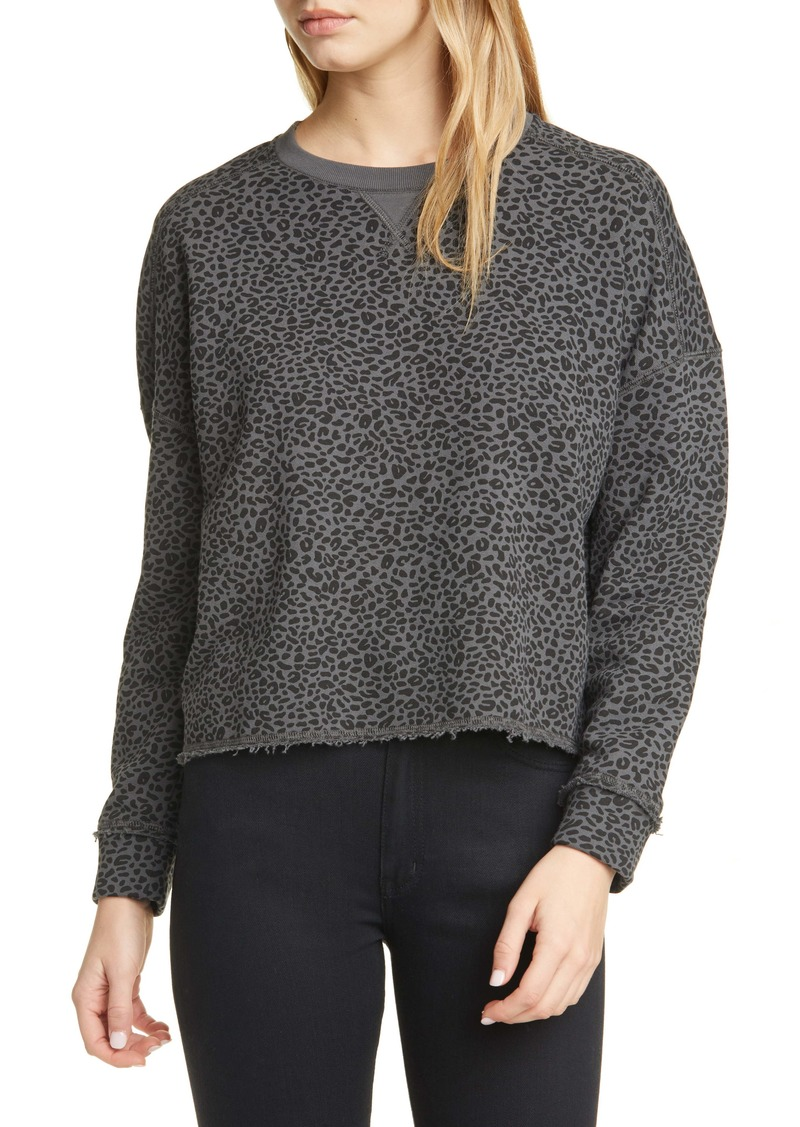 ATM Anthony Thomas Melillo Animal Leopard Print Sweatshirt