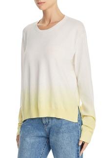 ATM Anthony Thomas Melillo Boxy Dip-Dyed Crewneck Sweater