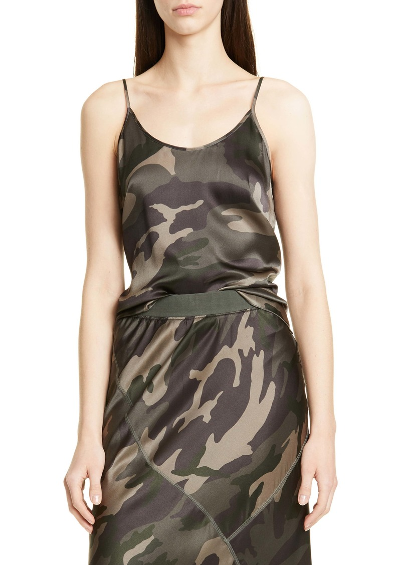 ATM Anthony Thomas Melillo Camo Print Silk Camisole