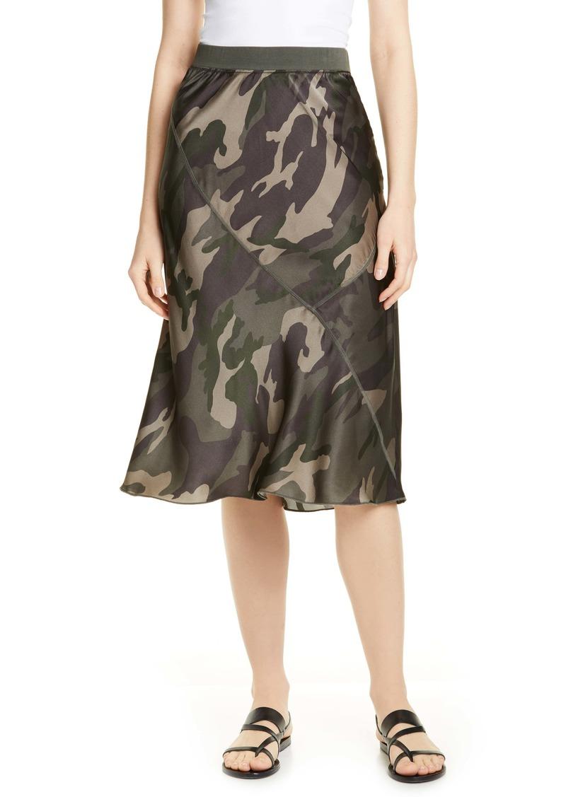 ATM Anthony Thomas Melillo Camo Print Silk Skirt