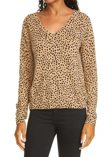 ATM Anthony Thomas Melillo Cheetah Print Cotton & Cashmere Sweater