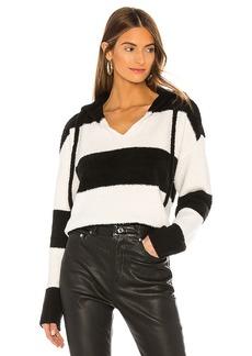 ATM Anthony Thomas Melillo Chenille Bold Stripe Hoodie Sweater