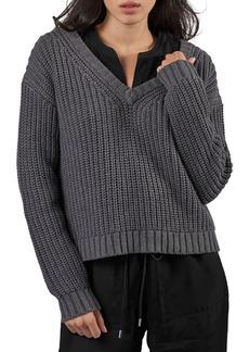ATM Anthony Thomas Melillo Chunky V-Neck Sweater