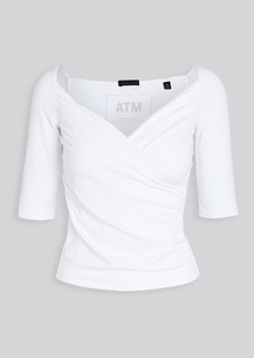 ATM Anthony Thomas Melillo Crossover Elbow Sleeve Cami Top