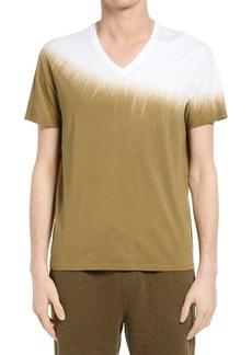 ATM Anthony Thomas Melillo Dip Dye V-Neck T-Shirt