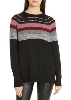 ATM Anthony Thomas Melillo Fair Isle Merino Wool Blend Sweater