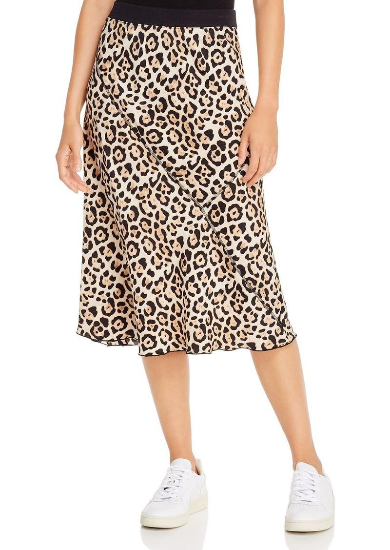 ATM Anthony Thomas Melillo Jaguar-Printed Silk Pull-On Skirt
