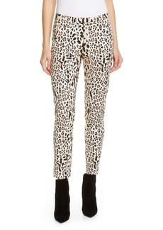ATM Anthony Thomas Melillo Leopard Print Slim Pants