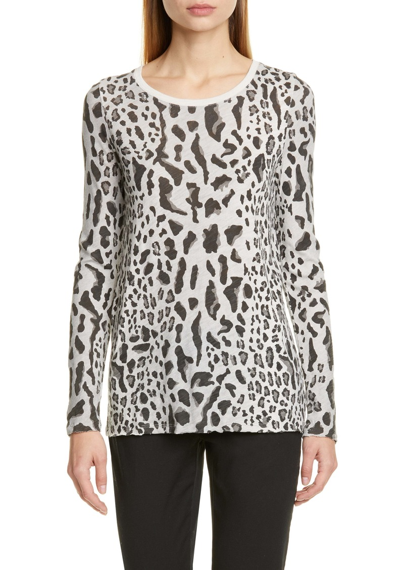 ATM Anthony Thomas Melillo Leopard Print Top