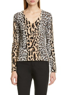 ATM Anthony Thomas Melillo Leopard Spot Sweater