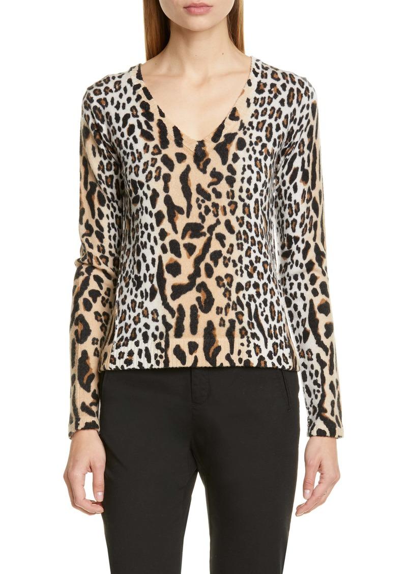 ATM Anthony Thomas Melillo Leopard Spot Sweater