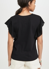 ATM Anthony Thomas Melillo Mix Media Fluted Sleeve Tee