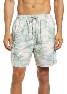 ATM Anthony Thomas Melillo Palm Print Cotton Shorts